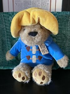 "My Friend Paddington Bear Plush Yellow Hat Blue Raincoat 9"""