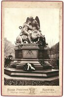 Hamburg, Kriegerdenkmal 70/71, Original-Photo, um 1880
