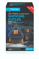 960 Super Bright LED Snowing Effect IcIcles Outdoor Christmas Decoration Lights