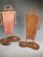 Jewelry Merchandise Display Stands Copper Finish over Steel Petroglyph Shaped
