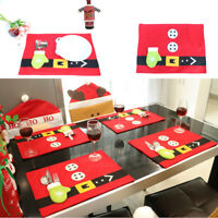 Christmas Cute Tableware Ornaments Snowman Holiday Party Home Decor Santa Xmas G
