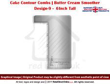"Cake Combs | Butter Cream Spreader Genius Edge Smoothing Contour Comb | 6"" | D9"