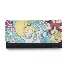 "DISNEY ALICE IN WONDERLAND ""QUEEN OF HEARTS"" TRIFOLD WALLET BY LOUNGEFLY"