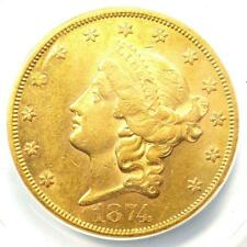 1874-CC Liberty Gold Double Eagle $20 - ANACS AU55 Details - Carson City Coin!