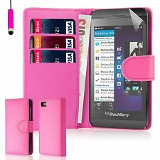 32nd Book Wallet PU Leather Case Blackberry PHONES Screen Protector & Stylus Hotpink Blackberry Z10