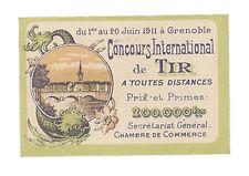 ERINNOPHILIE - VIGNETTE CONCOURS DE TIR 1911