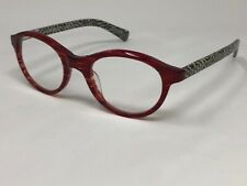 "EYE BOBS +1.00 ""SOFT KITTY"" Reading Glasses 2885 01 Red Wine/Beige Checker IB72"