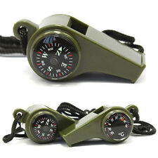 Outdoor Hiking 3 in1 Camping Emergency Survival Gear Whistle Compass Thermometer