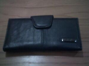 Black leather Lorenz accessories purse
