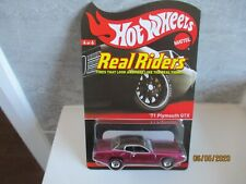 HOTWHEELS RLC COLLECTORS.COM 2012 REDLINE CLUB REAL RIDERS 71 PLYMOUTH GTX,,