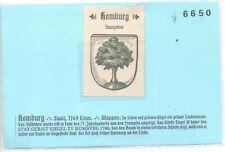 Reklamemarke Wappen von Homburg Saarland um 1925 (B826)