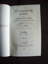 Encyclopédie moderne ou dictionnaire abrégé... - Planches - Première livraison