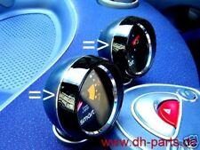 Smart Fortwo 450/2 trozo alu-distancia anillos/reloj-drehzahlm pulido o cepillado
