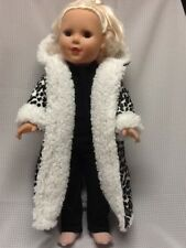 Fits 18� Ag Doll Handmade Leopard hooded coat with sherpa Set