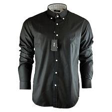 57f41653bbc Hombre Hugo Boss Negro Liso Azul Marino Cielo Blanco Camisa de Manga Larga  Talla