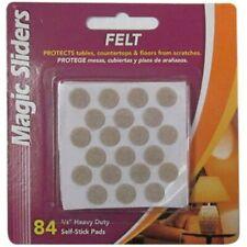 Magic Sliders 3/8 In. Beige Self Adhesive Felt Pads,(84-Count)