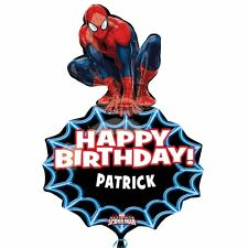 """Giant 33""""x23"""" SPIDERMAN PERSONALISED Foil Helium BALLOON Happy Birthday Party"""