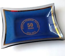 Peoples Federal Savings Bank Desk Tray Vintage 70's Collectible Anniversary Dish