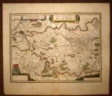 carte geographique ancienne, LA REGION DE BRIE Jansson 1640 antic map
