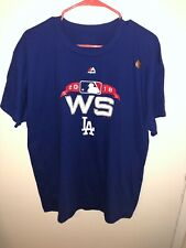 Los Angeles Dodgers Majestic 2018 World Series T-Shirt Authentic Collection L