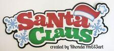 XMAS Santa Claus paper piecing title premade scrapbook page by Rhonda rm613art