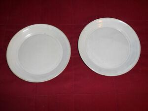 Cole North Carolina Pottery Seagrove, NC 2 White Dinner Plates