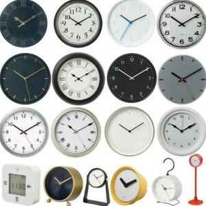 Ikea Round Alarm Table / Wall Clock Silent Quartz Movement Analogue Stylish Look