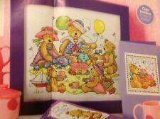 Joan Elliott Teddy Bears Picnic With Card Cross Stitch Chart