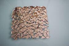 Mosaïque triangulaire or Rose Miroir Carreaux Env. 1.2 cm, 2 mm d'épaisseur, 100 pcs