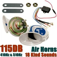 12V 115DB Car Truck Electric Digital Loud Air Siren Snail Horns Magic 18 Sounds