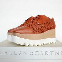 STELLA McCARTNEY $1065 Canyon Wicker Elyse wood platforms sole shoes 40 / 10 NEW