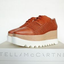 STELLA McCARTNEY $1065 Canyon Wicker Elyse wood platforms sole shoes 40 / 10 NEW