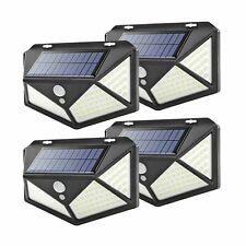 4pcs Lampada luce faretto faro esterno energia solare 100 LED sensore movimento