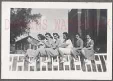 Vintage 1940s Photo Pretty Girls in Line Bus Driver Practice Row 763915