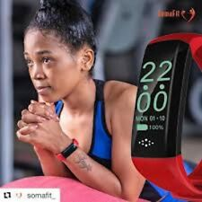 NEW!!! SomaFit Smartwatch, Syncs with your phone,Text,Heart rate,Sleep,Steps,