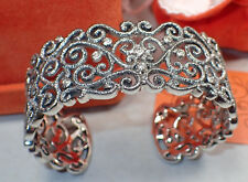 Attitude by Renee Sterling Silver Filigree Wide Cuff Bracelet -Never worn in Box