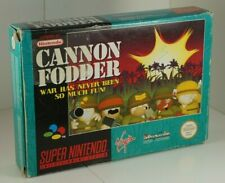 Cannon Fodder SNES Super Nintendo Game Complete Tested PAL UK - VGC