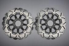 Paire disques frein avant wave 296mm pour Honda CB F Hornet 600 S F2 2000-2004
