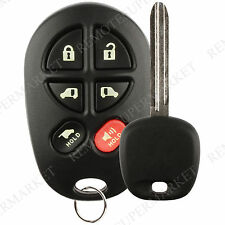 Replacement for Toyota 2004-2010 Sienna Keyless Remote Car 6b Van Key Fob Set
