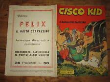 AVVENTURE AMERICANE N°6 ANNO I° CISCO KID DEL 31 MARZO 1956 NERBINI