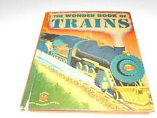 VINTAGE  WONDER BOOK OF TRAINS -  1952 -  BOOK- FAIR- H20