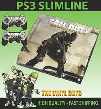 Playstation PS3 Slim Call of Duty Advanced Warfare Aufkleber Haut & 2 Pad Felle
