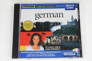 Speak & Learn German Select Soft New Sealed Fast & Fun Way to Learn Windows/Mac