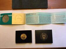 1981 Mark Twain 1 oz. Gold - American Arts Commemorative Series w/ Box & CoA