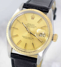 ROLEX OYSTER PERPETUAL DATEJUST REF16013 AUTO GOLD DIAL MEN'S WATCH