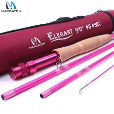 Maxcatch 5WT 9FT 4Sec Medium-fast IM8 Pink Fly Fishing Rod For Lady