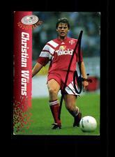 Christian Wörns  Bayer Leverkusen Panini Card 1995 Original Signiert+ A 158112