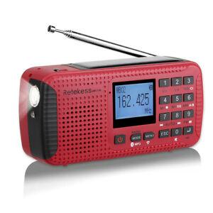 HR11W Portable FM/AM Radio Digital MP3 Player Rechargeable Bluetooth Emergency