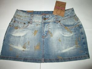 Womens YOUNIQUE Multifunctional Blue Jean Short Skirt Size 9 NEW