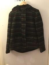 Jack BB Dakota Black With Red & Gray Stripes Hooded Coat, Size XS